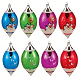 RADKO Shiny Brite FA LA LA Snowman Carolers Ornaments