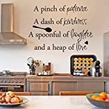 Inspirational Wall Sticker Quotes Words Art Removable Kitchen Dining Room Wall Decal Sticker Mural Vinyl Home Decor A Pinch of Patience,A Dash of Kindness...£¨Small,Black£