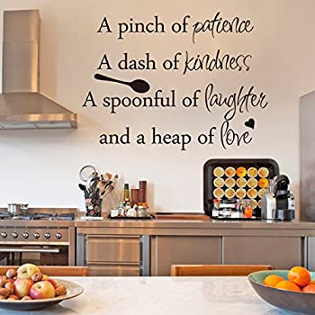 Inspirational Wall Sticker Quotes Words Art Removable Kitchen Dining Room  Wall Decal Sticker Mural Vinyl Home Decor A Pinch Of Patience,A Dash Of  Kindness.