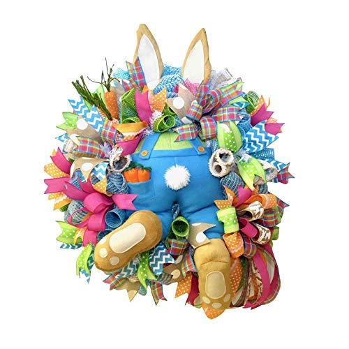 Décorations de Porte de Pâques, décor de Guirlande de Lapin de Pâques pour Porte d'entrée, décorations de Porte de…