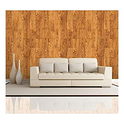 Made With Top Quality, Delightful Composition, Vertical Light Brown Wood Textured Paneling Pattern Wall Mural Removable Wallpaper