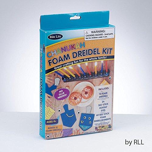 Do It Yourself Foam Dreidel Kit Makes 12 Dreidels Hanukkah Foam