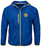 NBA Golden State Warriors Men's Extraordinary Achievement Long Sleeve Full Zip Jacket, X-Large, Deep Royal/Yellow Gold