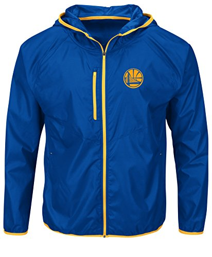 NBA Golden State Warriors Men's Extraordinary Achievement Long Sleeve Full Zip Jacket, Medium, Deep Royal/Yellow Gold by VF LSG