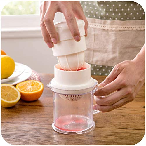 UPKOCH Exprimidor manual de frutas y verduras Naranja Limón Exprimidor de jugo de cítricos Juicer multiusos (blanco)