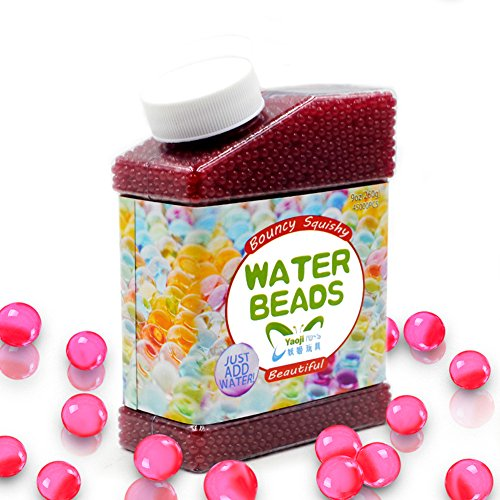 SailFish Water Beads,9 oz Pack (40000 Pcs) Gel Water Beads for Vases Filler,Plants,Wedding,Party and Home Decorations,Kids Tactile Sensory Toys Magic Beads Growing Balls,Hot Pink