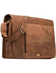 DH Valley genuine buffalo leather messenger bag in vintage style shoulder travel bag laptop bag