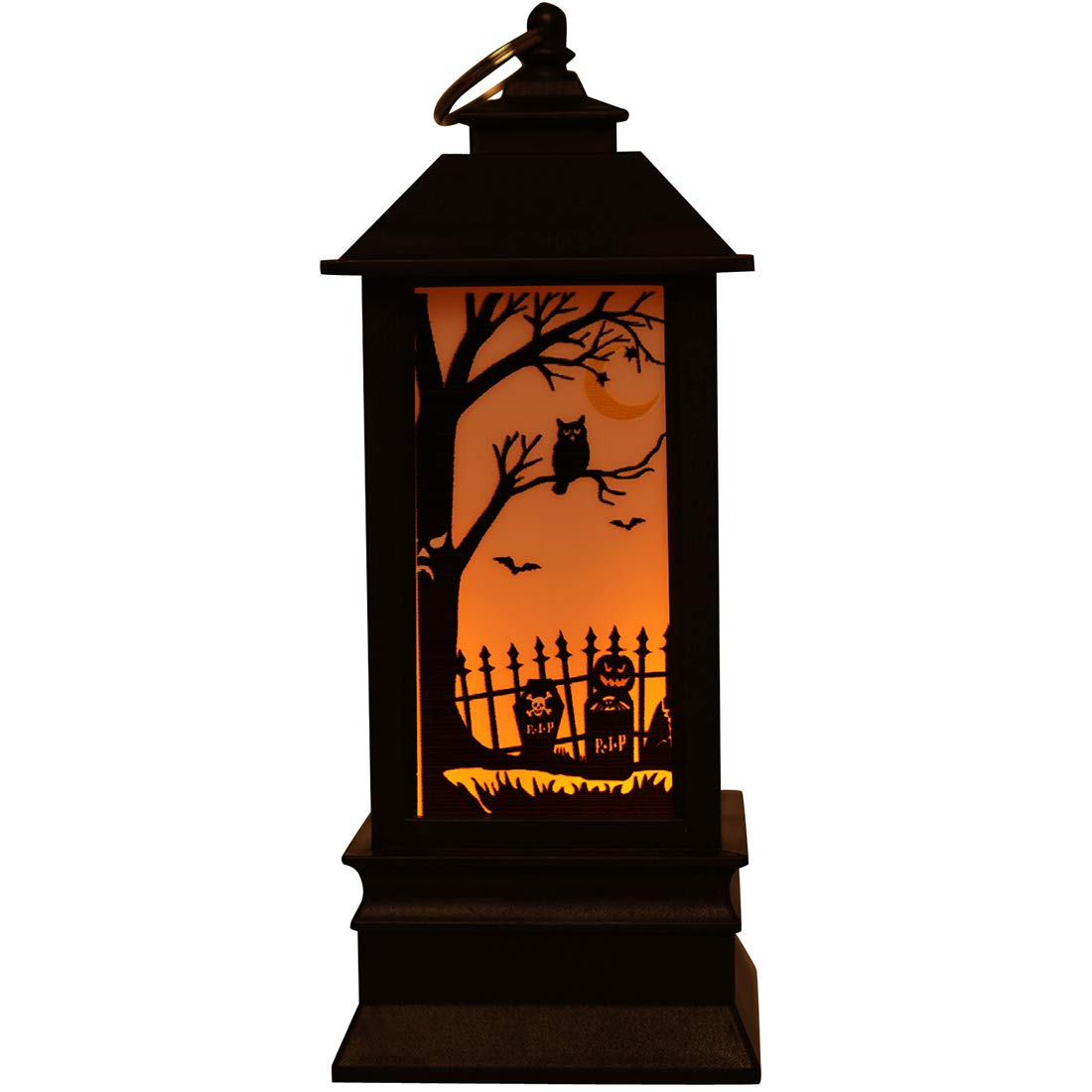 Halloween Skull Pumpkin Decorative Lantern, Hanging LED Garden Lantern Lights for Halloween Party Patio Pathway Outdoor&Indoor Hanging Lantern