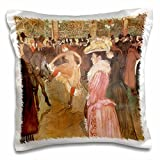 Ball at the Moulin Rouge by Henri de Toulouse-Lautrec pillow case is a great way to add a splash of style to any room. The unique design of this 16x 16Throw pillow case is sure to turn heads. Made of a durable satin material with a rear fold over clo...