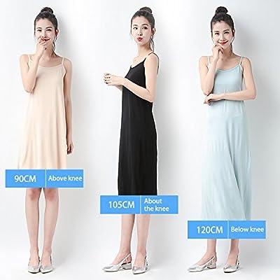 MMissy Women Long Spaghetti Strap Full Cami Slip Camisole Under Dress Liner Nightgown