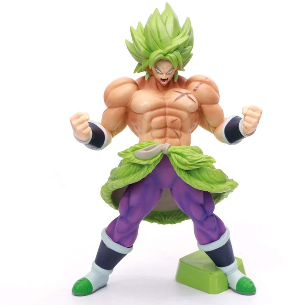 Hohe 20 cm AHAI YU Dragon Ball Super Broly Statue Modell Charakter Dekorationen//Spielzeug//Sammlungen//Handwerk//Weihnachten
