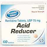 Premier Value Ranitidine 75Mg Tablets - 60ct