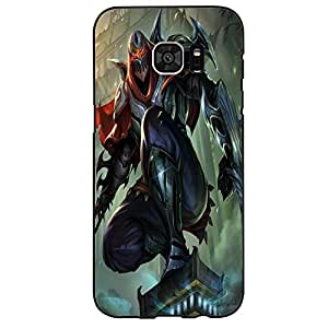 Classic Zed League of Legends Phone Case Cover for Samsung Galaxy S7 Edge LOL Logo Special Unique