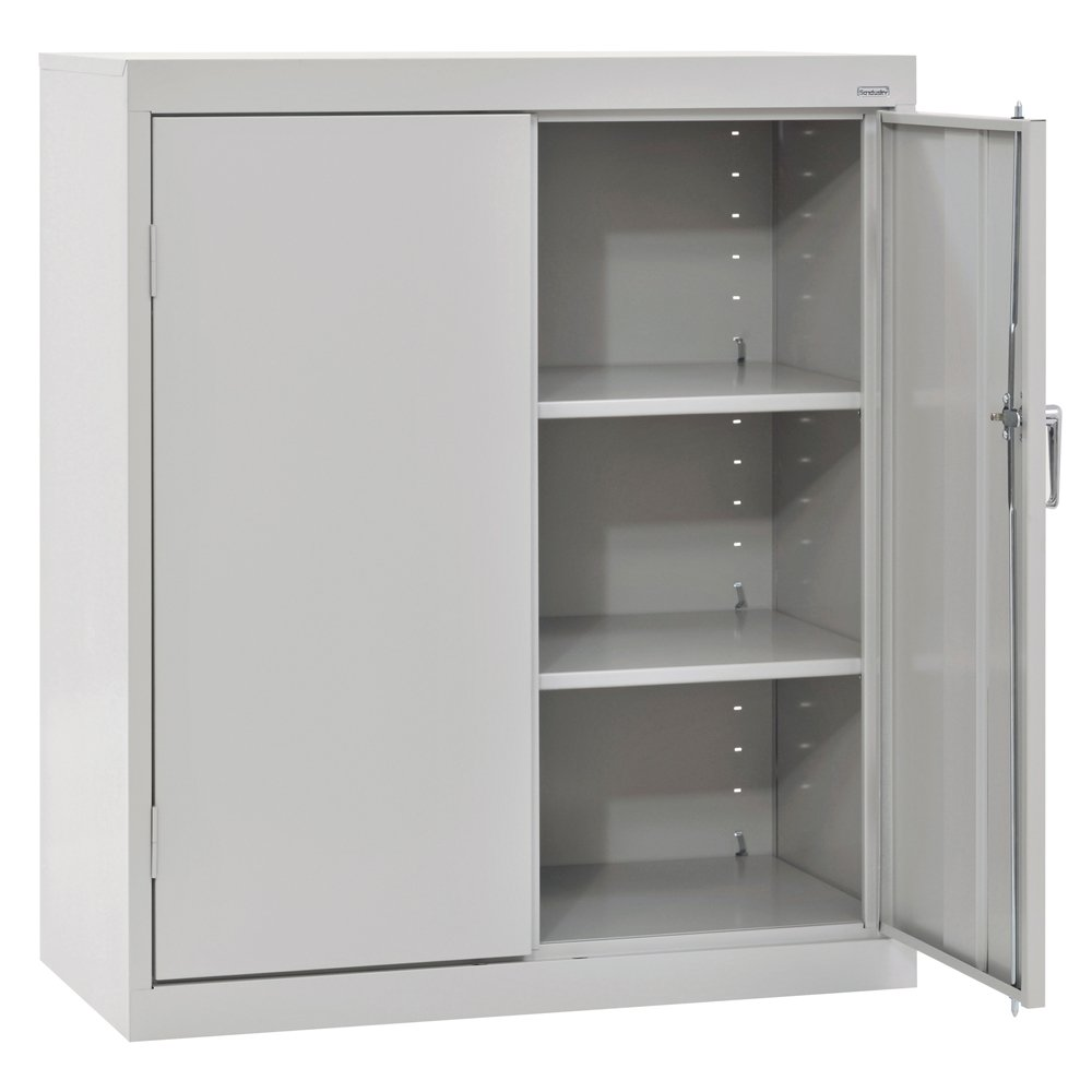 SANDUSKY LEE CA21361842-05 Classic Series Counter Height Cabinet with Adjustable Shelves, Steel, 42'' Height, 36'' Width, 18'' Length, Dove Gray