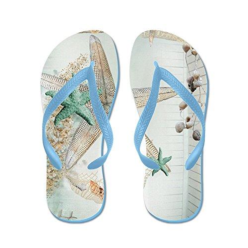 Cafepress Sommar Hav Skatter - Flip Flops, Roliga Rem Sandaler, Strand Sandaler Caribbean Blue