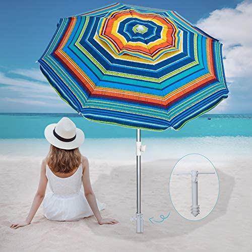 AMMSUN Beach Umbrella 6.5ft Umbrella