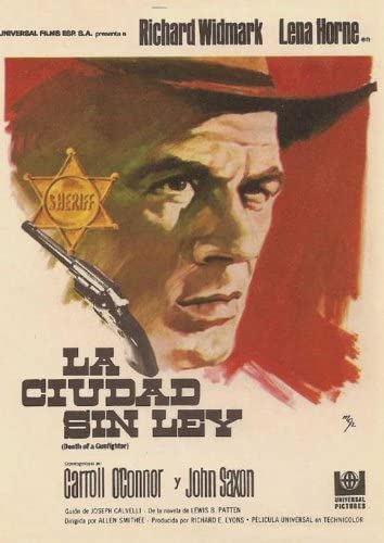 Death of a gunfighter Richard Widmark movie poster