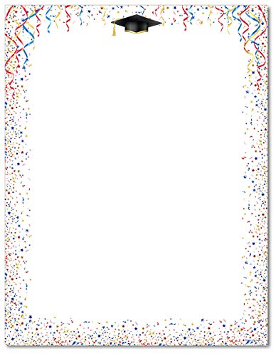 - Celebrate Letterhead - 80 Sheets - Great for Graduation Parties!