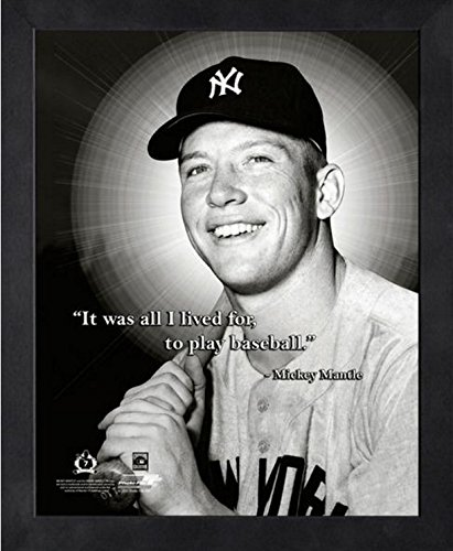 Mantle David (Mickey Mantle New York Yankees MLB Pro Quotes Photo (Size: 9