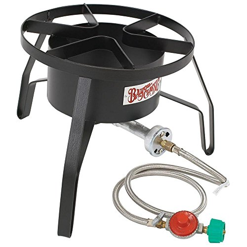Bayou Classic SP10 Single Burner Cooker, 18″ x 18″ x 13″. Weight: 13.8lbs, Black