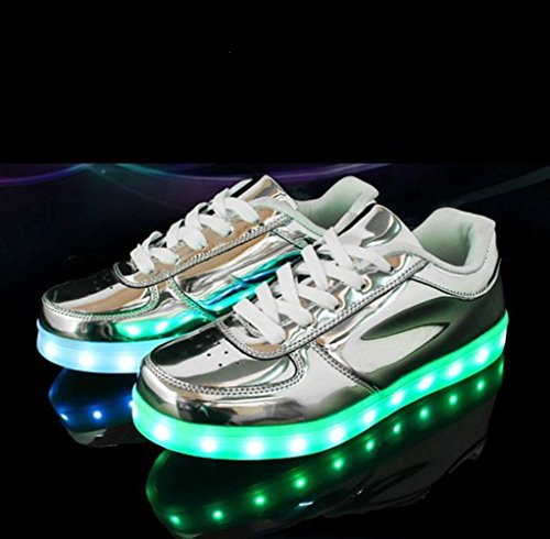 [Present:small towel]JUNGLEST® 7 Colors Led Trainers Light Up Silver lp639