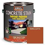 ANViL Acrylic Solid Color Interior/Exterior Concrete Stain, 1 Gallon, Terra Cotta