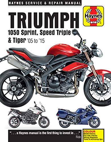 Haynes M4796 Triumph 1050 Sprint, Speed Triple & Tiger Repair Manual (2005-2015)