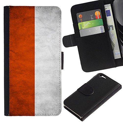 EuroCase - Apple Iphone 6 4.7 - Poland Grunge Flag - Cuir PU Coverture Shell Armure Coque Coq Cas Etui Housse Case Cover