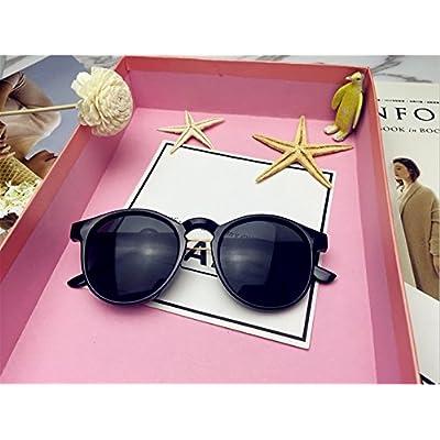 LXKMTYJ Boîte ronde rétro élégant personnalité lunettes de big box lunettes sauvages d'avant-garde,Gris foncé