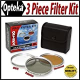 Opteka 62mm HD Professional Filter Kit (UV, PL, FLD) for Sony HDR-FX7 1080i HDV Handycam Camcorder
