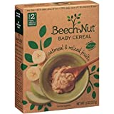 Beech-Nut Baby Cereal, Oatmeal and Mixed Fruit, 8-oz. Boxes (Pack of 2)