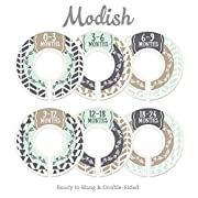 Modish Labels Baby Nursery Closet Dividers, Closet Organizers, Nursery Decor, Baby Boy, Woodland, Arrow, Tribal, Mint, Tan, Taupe, Beige