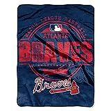 "MLB Atlanta Braves ""Structure"" Micro-Raschel Throw, Blue, 46 x 60-Inch"