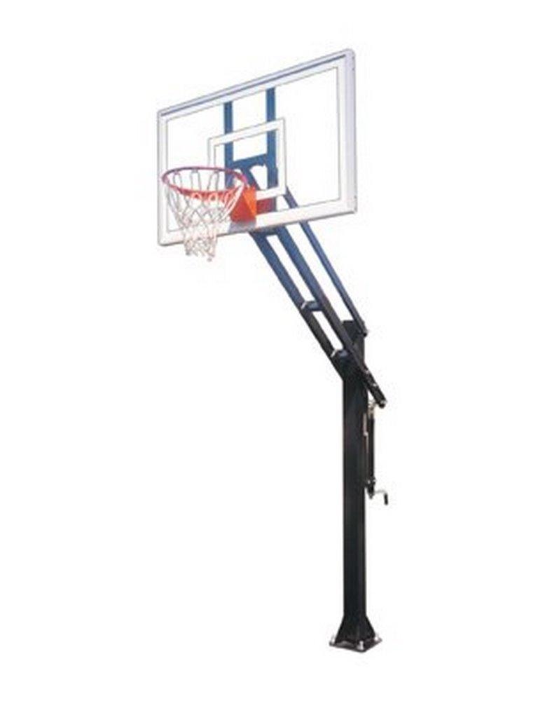 First Team Force Pro steel-glass in ground調整可能バスケットボールsystem44、スカーレット B01HC0BQYO