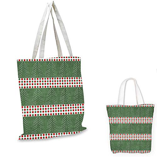 Geometric ultralight shopping bag Pine Tree Design with Curved Lines Chevrons Vibrant Polka Dots travel shopping bag Reseda and Hunter Green Red. 13