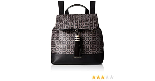 Amazon.com: Tommy Hilfiger Womens Grace Logo Backpack, Black/Pepper: Shoes