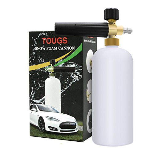 Foam Cannon, Wash Pressure Washer Jet Wash, TOUGS 1/4″ Quick Release Adjustable Car Snow Foam Lance Foam Blaster For Sale