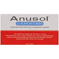 Anusol Haemorrhoidal Suppositories, Pack of 12