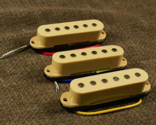 A21-1-Set-of-SSS-Single-Coil-Pickup-for-Strat-or-similar-Guitar-CREAM