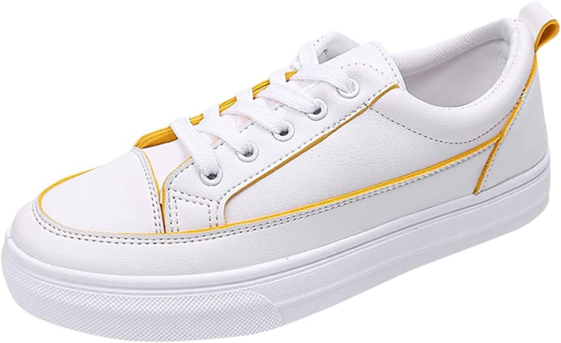 Women Casual Lace Up Round Toe Sneakers