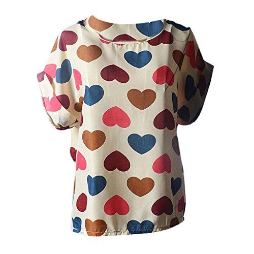 en Femmes Blusas Occasionnel Soie Tropicale de Impression Ineternet Chemisiers Fleur Color Jolies Mousseline RT6aq5wxn0