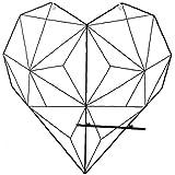 Wilk Creativa en Forma de corazón de Hierro retícula de Fotos Pared del Metal de visualización de Imagen Que cuelga del Estante del sostenedor Junta de Almacenamiento para el hogar decoración Negro: