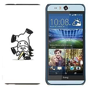 EJOOY---Cubierta de la caja de protección para la piel dura ** HTC Desire Eye M910x ** --Feliz Unicornio