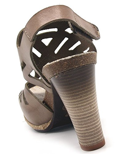 De Mujer Sandalias Para Piel Avorio Vestir taupe Felmini pwFx5qx