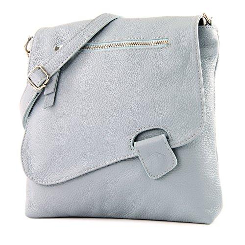 modamoda de de - ital de cuero bolso de las señoras bolsa de mensajero del bolso de hombro del bolso de cuero NT07 2en1, Präzise Farbe (nur Farbe):Eisblau
