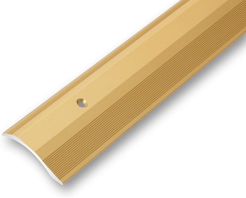 1000 mm, silber unterschiedliche H/öhen Anpassungsprofil Rampenprofil H/öhenausgleichsprofil flexibel H/öhenausgleich von 2-20 mm Ausgleichsprofi 45 x 1000 mm gebohrt /Übergangsprofil