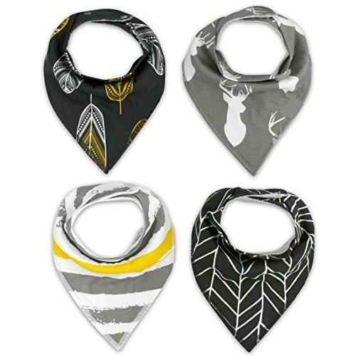 mbjerry-baby-bandana-bib-set-4-pack-super-absorbent-drool-bandana-bibs-deer-leaf