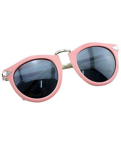 af6ac96759 MissFox Gafas de Sol Moda Vintage para Mujer y Hombre Gafas Lente Ronda UV400  Sunglasses: Amazon.es: Ropa y accesorios