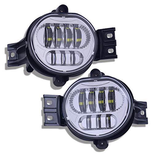 - LED Fog Light Clear Lens Silver Driving Fog Lamp For Dodge Ram 1500 2500 3500 (2pcs)
