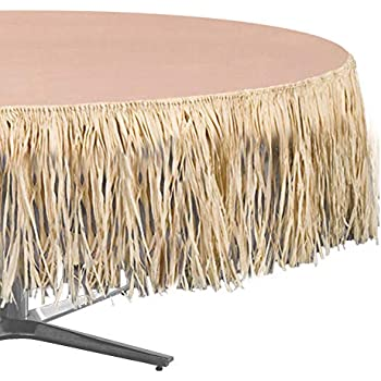 Amazon Com Natural Color Artificial Grass Raffia Table